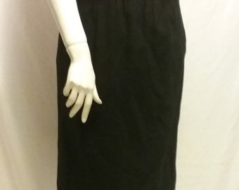 Vintage breckenridge black wool pencil skirt with pockets size 6
