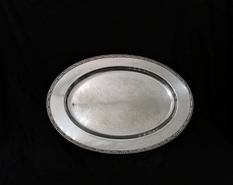Vintage Mid Century EPNS M223 Silver Gallery Serving Tray