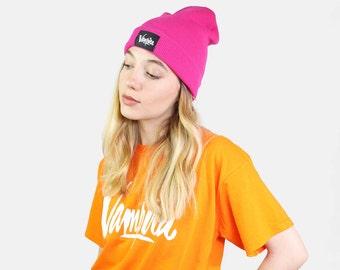 Beanie Hat Pink Vampira Clothing