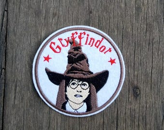 Harry Potter and The Sorting Hat Embroidery Iron on patch - LIMITED EDITION