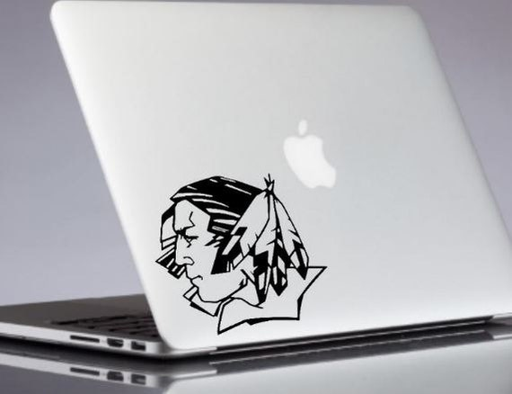 Fighting Sioux Decal Nd University Sticker Macbook Decals