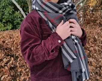Outlander Tartan scarf, grey
