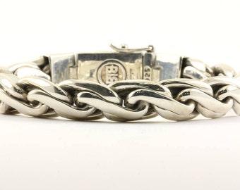 Vintage Buddha To Buddha 183 Kadek Chain Bracelet 925 Sterling Silver BR 1624-E
