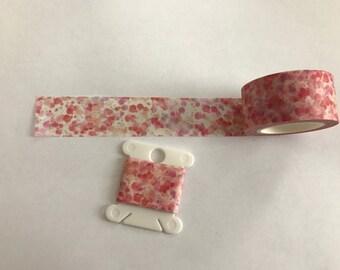 """Thick Pink splatter print washi 24"""" sample."""