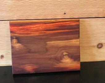 "7.5"" x 10"" x 1"" Handmade Canary Wood Cheese/Charcuterie Board"