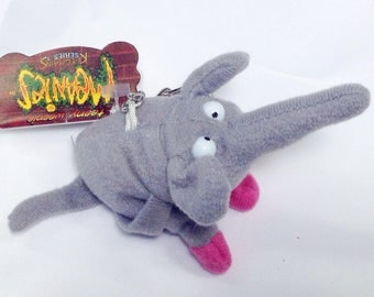 "Teeny Weenie Meanies Keychain Series 1, ""BART"" the Elephart, Vintage 1997 Keychain Zipperpull, Elephant Teenie Weenie Meanies Collectable"