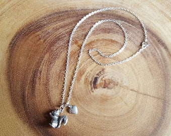 I Heart Squirrels - Charm Necklace