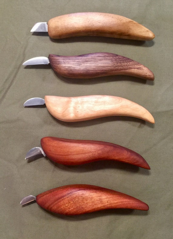 Custom chip carving knife individual or sets from