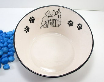 Ceramic pet bowl, cat food bowl, pet food bowl, pet dish, ceramic pet dish, cat food dish, pet bowl, cat bowl, pottery pet bowl, pet feeding