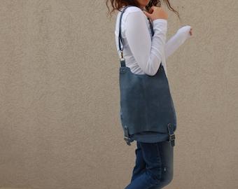 blue bag, blue backpack, leather bag, women bag, woman backpack, cross body, shoulder bag, backpack, tote, suzi porat, handbags, canvas bag