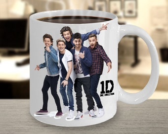 Beautiful One Direction 1D Coffee Mug - One Direction Christmas Gifts - Features a Stunning Image of Niall Horan, Zayn Malik, Liam Payne ..