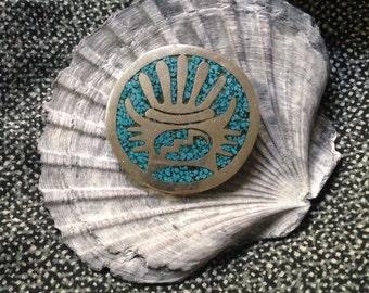 Vintage turquoise brooch & pendant