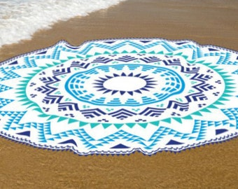 Beach roundie, Cotton beach towel, sweat absorbent cotton summer towels, boho roundie