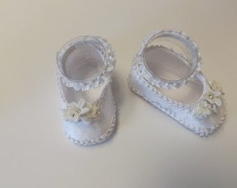 Christening shoes, Baptism Baby Girl Shoes