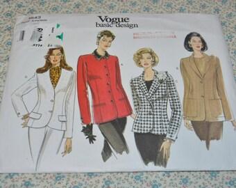 Vogue 1643 Misses / Misses Petite Jacket Sewing Pattern - UNCUT - Size 6 8 10