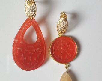 Red Jades earrings