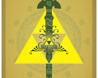 The Legend of Zelda - Triforce Symbols Poster