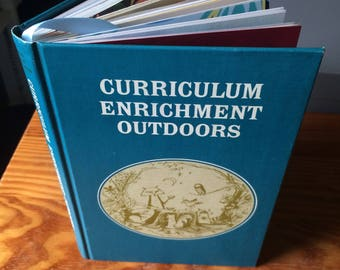 Curriculum Enrichment—Outdoors (1965) - Handstitched Upcycled Journal / Vintage Notebook / Scrapbook