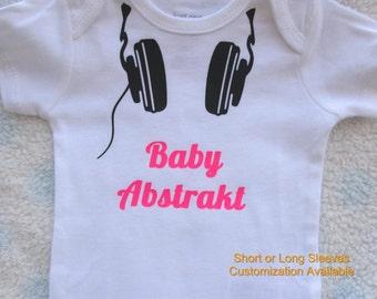 DJ onesie | funny baby shower gift | Baby Bodysuit | Boy or Girl | Music | DeeJay | Onsie | Hipster | Headphones  Beats | STEM | Coming Home