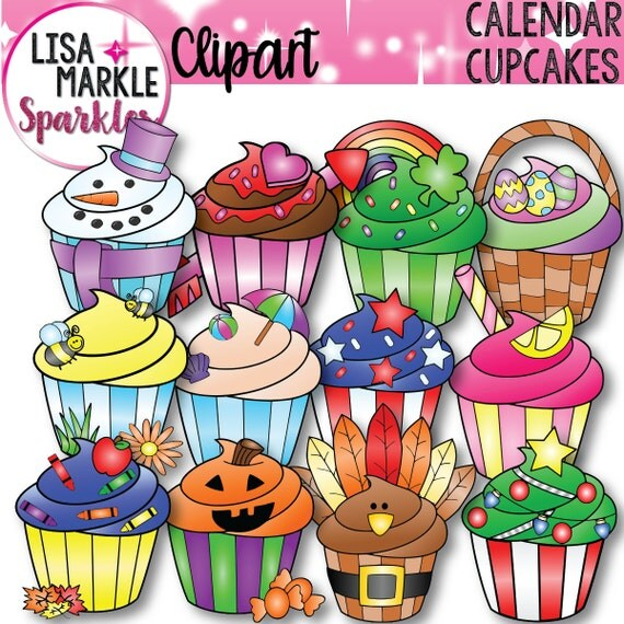 Calendar Holiday Clip Art : Calendar clipart cupcake seasonal holiday