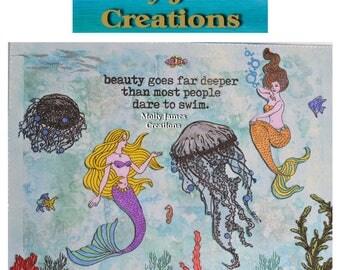 Mixed Media Artwork - Mermaids