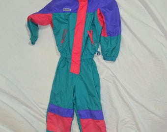 Kids Youth Columbia Nylon One Peice Wind Suit - Youth Size Small