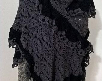 Scialle di cotone, stola all'uncinetto, fatto a mano,accessori,accessori donna, scialle uncinetto,stola di cotone,moda donna,accessori donna