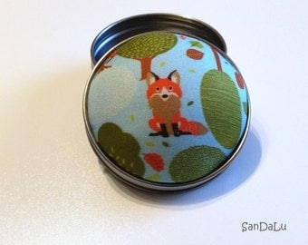 Fox in the forest - Pincushion, needle box