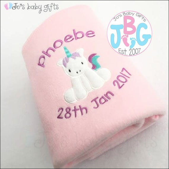 Personalised 'Baby Unicorn' Blanket