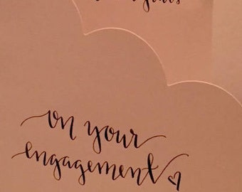 congrats / engagement card