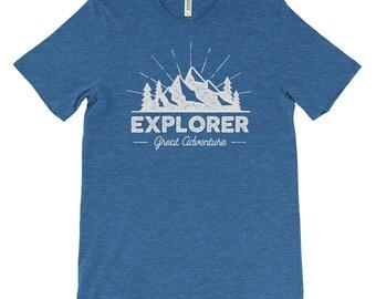 Explorer Great Outdoors Adventure Unisex Bella Canvas Tshirt
