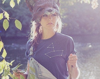 Boat screen printed ethical and organic cotton t-shirt