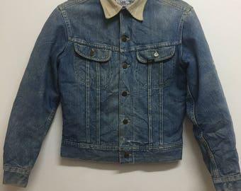 Vintage Lee Rider Stom Rider 70's Blanket Lined Denim jacket Rare jeans jacket