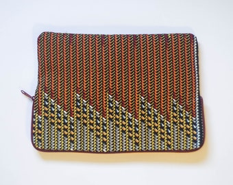 Chevron - Ankara - African Print - MacBook Pro Sleeve - Laptop Sleeve - Laptop Case - Laptop Bag
