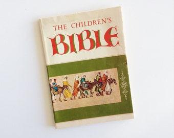 The Children's Bible - 1965 - Vintage Kid's Bible - Preschool Bible - Paperback - Golden Press - Old Testament - Living Book - Homeschooling