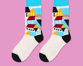 Colored fancy home socks | Men and women