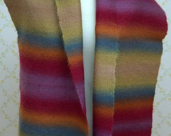 Handwoven Multicoloured Scarf (Free UK P&P)