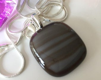 Jewelry by glass-gift for the woman-Spectrum glass pendant Art Glass hand made Reserve