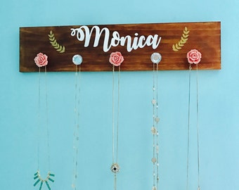 Personalized Jewelry Organizer - Necklace Hanger