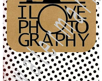Photography SVG - camera svg transfer - Love Photography SVG - silhouette cameo cricut - Photographer shirt JPEG t shirt transfer photos
