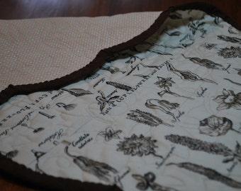 Seed Pod Handmade Scalloped Table Runner