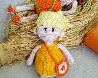 Soft Doll Hana And Sara, Stuffed Doll, Fair Trade Toy, Stuffed Toy, Safety Toy, Crochet Stuffed Toy, Washable Toy, Fair-Trade Soft Toy