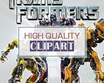 Transformers Digital Clipart, Megatron, Optimus Prime, Autobot, Digital Pictures, Cartoon Clipart Instant Download, Decepticon,Robot Clipart