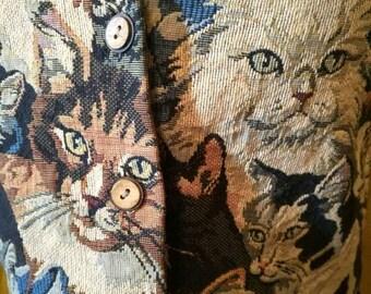 90s Cat Vest! Size S/M