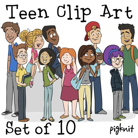 Teen Clip Art COMMERCIAL USE Clipart School Kids Clip Art