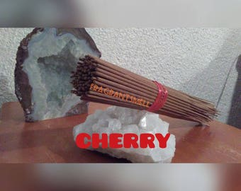 Incense Sticks-CHERRY-scent-Handmade Dipped-Home Fragrance HIGH quality 100ct incense.