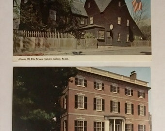 1980s Postcards from Plymouth and Salem, Massachusetts (Set 2)