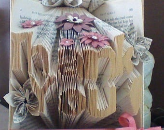 Thank you folded book - Two line book folding - Book folding words - Thank you gift - Book folding art - Unique thank you gift -