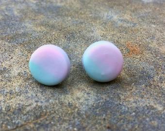 Candyfloss polymer earrings