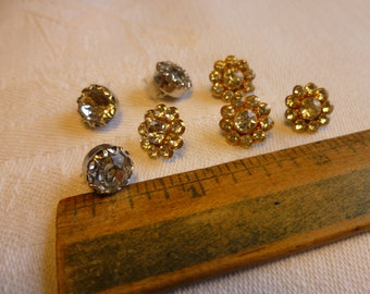 Crystal and rhinestone buttons